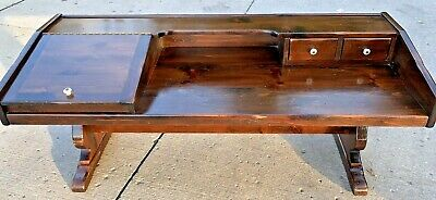 Vintage  Ethan Allen Old Tavern Pine Cobblers Bench Coffee Table