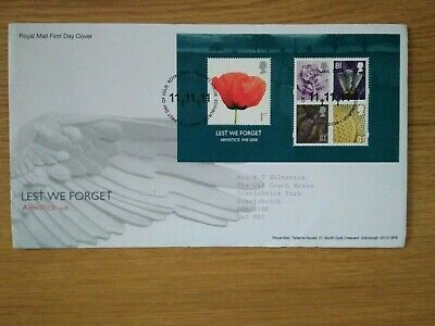 Uk First Day Cover  Lest We Forget  Armistice 1918 - 2018
