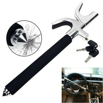Universal Car Van Steering Wheel Lock Anti Theft Clamp Security Safety Lock Hook