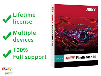 ABBYY Finereader Entreprise 14 ☑ Lifetime Acttivation ☑ Multiple Devices ☑
