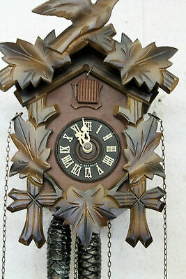 Old Clock Cuckoo Wall Clock Black Forest made in West Germany