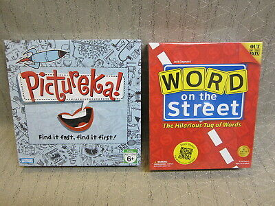 Word On The Street and Parker Brothers Hasbros Pictureka! Board Game New Sealed
