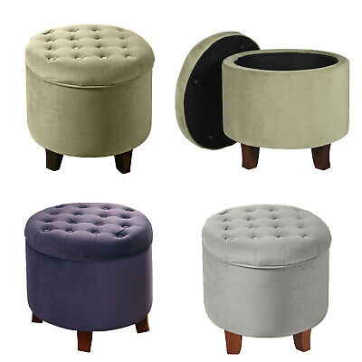 Peachy Round Ottoman Vanity Storage Seat Makeup Chair Living Room Short Links Chair Design For Home Short Linksinfo