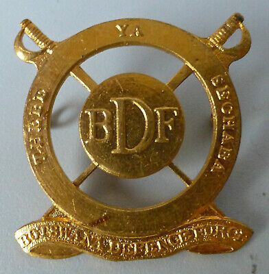 BOTSWANA AFRICA ARMY DEFENCE FORCE obsolete AFRICAN BDF SWORDS brass CAP BADGE