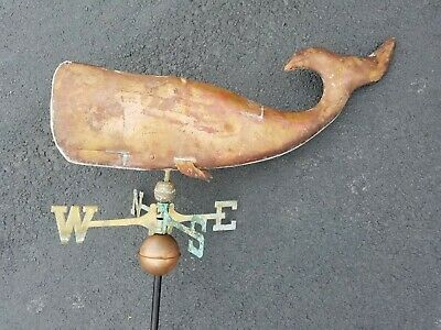 Large Copper Whale Weathervane