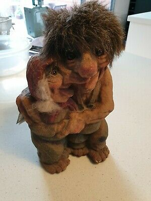 NyForm Elder Couple Man Woman Forest Folk Troll Norway Handmade #126 Tag