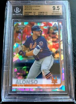 2019 Topps Chrome Sapphire Pete Alonso RC Rookie #475 BGS 9.5 TRUE GEM