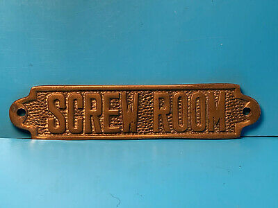 Brass Screw Room Door Name Plate Wall Decor Sign Plaque Boat Cabin xxx Nautical