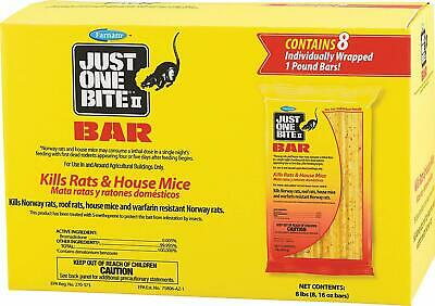 Just One Bite II Bait Bars Block Rodent Poison Rat Mouse Mice Killer, 8 Lbs Box