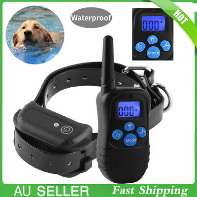 Rechargeable Anti Bark Dog Training Collar Stop Barking Auto Trainer No-Shock AU