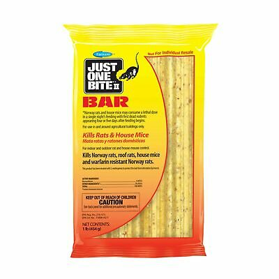 Just One Bite II Bait Bars Block Rodent Poison Rat Mouse Mice Killer, 1 Lbs Pack