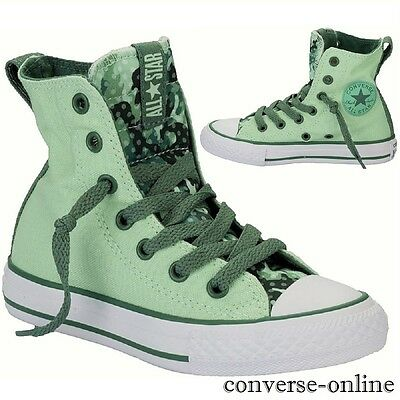 KIDS Girl's Boy's CONVERSE All Star PARTY HIGH TOP Trainers Boots SIZE UK 10.5