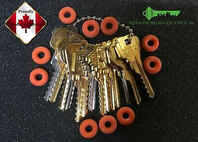 Professional depth key set of 15 keys w/ 10 super soft Bump Rings