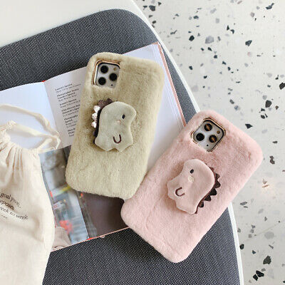 Cute Plush Warm Phone Case for iPhone 7 8 X XR 11 Pro Max Furry Fluffy Fur Cover