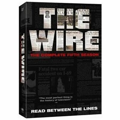 The Wire:Complete Fifth Season/Series Five DVD NEW 4disc883929015368Dominic West