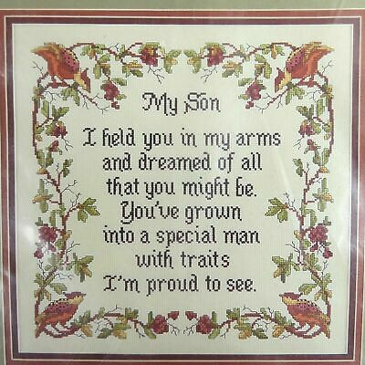 My Son Classic Cross Stitch Kit Tapestry Needlepoint Embroidery Cross My Heart