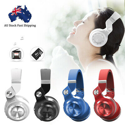 Bluedio T2S Wireless Headphones Bluetooth 4.1Stereo Headsets for Smartphones AU