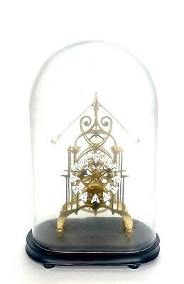 24K English Style Double Compound Pendulum 8 Day Open Work Skeleton Clock