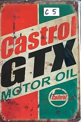 Castrol GTX Motor Oil Metal Tin Signs Bar Shed & Man Cave Signs AU Seller