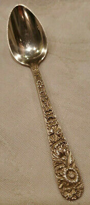 """Repousse by S Kirk & Son Sterling Silver Spoon  5 7/8"""" 29.10g"""