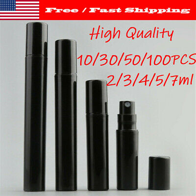 10-100 PCS 2/3/4/5/7 ML Empty Black Plastic perfume bottle Sample Vials