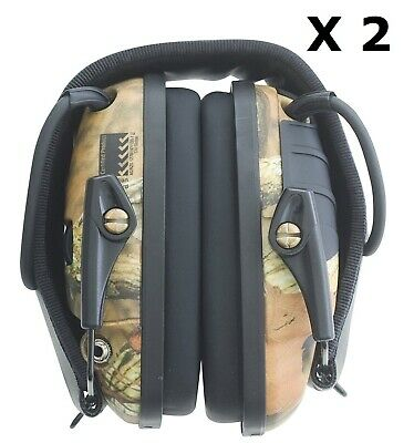 2 x Howard Leight Impact Sport Camo Shoot Range Electronic Earmuffs Protect Hunt