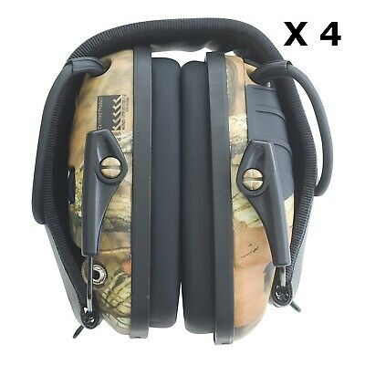 4 x Howard Leight Impact Sport Camo Shoot Range Electronic Earmuffs Protection