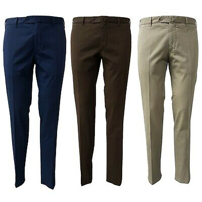 Trousers Man Gabardine Luigi Bianchi Mantova Art. 2522 98%Cotton 2%Elastane