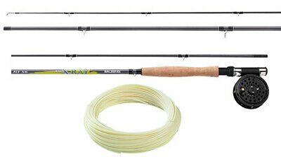 Rohr Combo Shakespeare Sigma Fly 7ft // 2,10m Fliegenrute Schnur Rolle #3