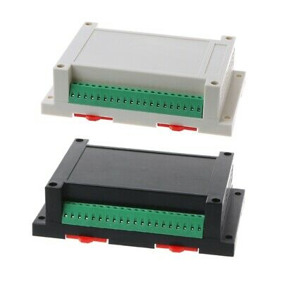145x90x40mm Plastic Industrial Instrument Din Electronic Rail Enclosure Box Case