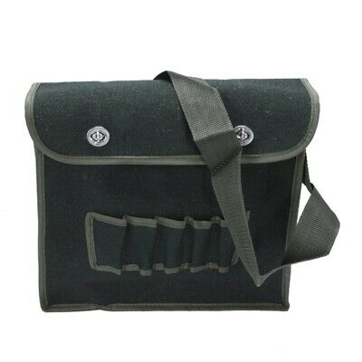 Multi compartments army green canvas shoulder tool bag for electricians H7F6