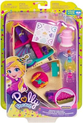 Polly Pocket GFM49 Birthday Cake Bash Compact with 2 Dolls And Accessories