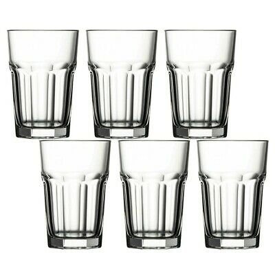 6 x 350ml Pasabache Tall Drinking Tumblers Water Cups Juice Cocktail Glasses Set