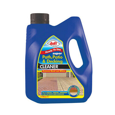 Doff Super Path Patio & Decking Cleaner Removes Mould And Mildew 3ltr