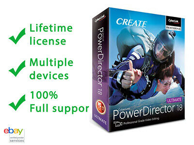 Cyberlink PowerDirector 18 Ultimate ☑ Lifetime Activation ☑ Multiple Devices ☑