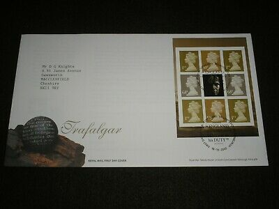 2006 GB Stamps TRAFALGAR Booklet Pane FIRST DAY COVER TALLENTS HOUSE Cancels FDC
