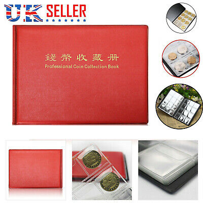 240 Album Coin Collecting Penny Money Storage Book Case Folder Holder Collection
