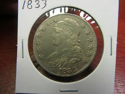 1833 Capped Bust Half Dollar Some Luster & Toning!!