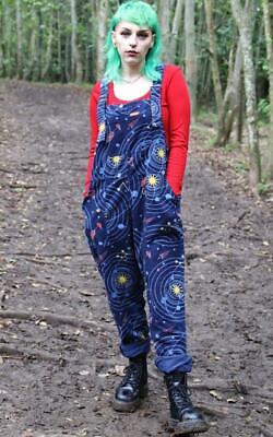 Run And Fly Solar System Space Planets Cord Unisex Baggy Dungarees Overalls