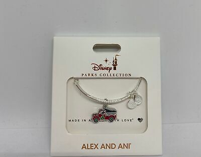 Disney Parks Mickey Mouse Holiday Truck Alex & Ani Silver Metal New with Box