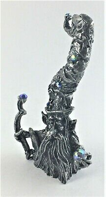 Pewter Dwarf Forest Wizard with Crystal Accents
