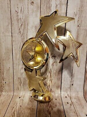 """PDU 8"""" Spinning Star Trophy TOPPER No Base Customizable Plastic Gold"""