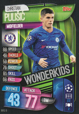 TOPPS MATCH ATTAX CL 2019-20 - Christian Pulisic - Chelsea -# WKU 9 - WONDERKIDS