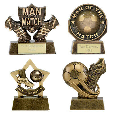 Man Of The Match Football Trophy Personalised Award Boot/Ball Free Engraving