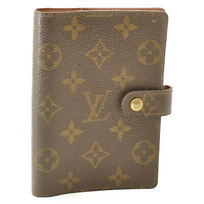 LOUIS VUITTON Monogram Agenda PM Day Planner Cover R20005 LV Auth cr171 **Sticky