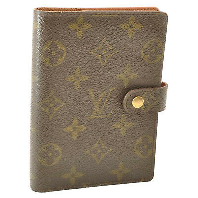 LOUIS VUITTON Monogram Agenda PM Day Planner Cover R20005 LV Auth cr166 **Sticky