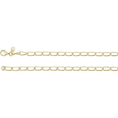 """Fancy Link Chain 14K Yellow Rose White Gold  or Sterling Silver 7"""" 16"""" 18"""" 24"""""""
