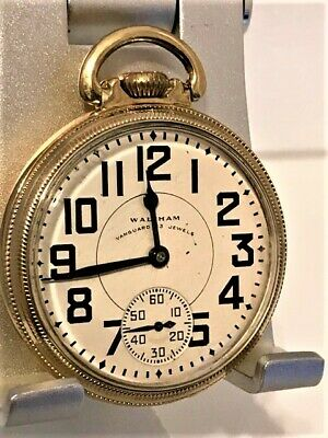 Waltham Vanguard 16s Railroad Grade 8 Adj. 23 Jewels Pocket Watch