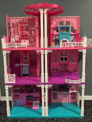 2013 Mattel Barbie Dream House, 3 Story and 2 Elevators, Working Sound Effects