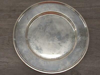 "A.T. Gunner Mfg Co Sterling Silver Bread Butter Plate Hollowware 6"" Charger I"